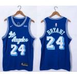 Men's Los Angeles Lakers #24 Kobe Bryant Blue 2021 Latin Version Nike Jersey