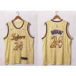 NBA Lakers #24 Kobe Bryant 20-21 Yellow LV Swingman  Jersey