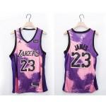 NBA Lakers #23 Lebron James Purple 2020-21 Fashion NBA Jersey