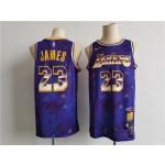Men's Los Angeles Lakers #23 James Purple Nike MVP rookie of the year select series 2021 NBA Jersey