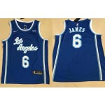 Men's Los Angeles Lakers #6 Lebron James Blue 2021 Latin Version Nike Jersey