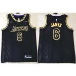 NBA Los Angeles Lakers #6 Lebron James Black Mamba Nike Swingman Jersey