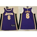 NBA Los Angeles Lakers #6 Lebron James Purple 2021 Nike Swingman Jersey