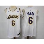 NBA Los Angeles Lakers #6 Lebron James White 2021 Nike Swingman Jersey