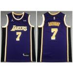 Los Angeles Lakers #7 Carmelo Anthony 2020-21 Purple Statement Swingman Jersey