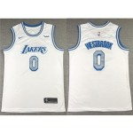 Los Angeles Lakers #0 Russell Westbrook 2020-21 White City Edition Swingman Jersey