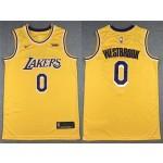 Los Angeles Lakers #0 Russell Westbrook Gold Swingman Jersey
