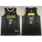 Los Angeles Lakers #7 Carmelo Anthony Black City Edition Swingman Jersey