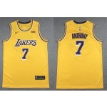 Los Angeles Lakers #7 Carmelo Anthony Gold Swingman Jersey