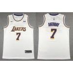 Los Angeles Lakers #7 Carmelo Anthony White Swingman Jersey