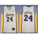 Los Angeles Lakers #24 Kobe Bryant 2008-09 Gray Hardwood Classics Jersey