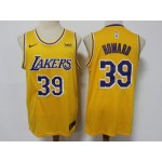 Los Angeles Lakers #39 Dwight Howard Gold Swingman Jersey