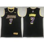 Los Angeles Lakers #7 Carmelo Anthony 2020-21 Black Earned Edition Swingman Jersey