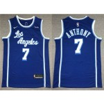 Los Angeles Lakers #7 Carmelo Anthony 2020-21 Blue Classic Swingman Jersey
