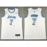 Los Angeles Lakers #7 Carmelo Anthony 2020-21 White City Edition Swingman Jersey