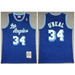 Lakers #34 Shaquille O'Neal Blue 1996-97 Hardwood Classics Mesh Jersey