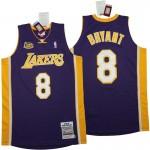 Lakers #8 Kobe Bryant Purple 2000-01 Throwback Jerseys