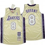 Lakers #8 Kobe Bryant Silver 1996-2016 The hall of fame Throwback Jerseys