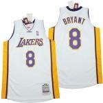 Lakers #8 Kobe Bryant white 2003-04 Throwback Jerseys
