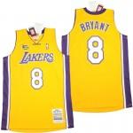 Lakers #8 Kobe Bryant yellow 2003-04 Throwback Jerseys
