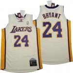 Lakers #24 Kobe Bryant Rice white 2008-09 Throwback Jerseys
