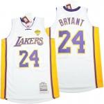 Lakers #24 Kobe Bryant white 2009-10 Throwback Jerseys