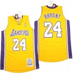 Lakers #24 Kobe Bryant Yellow 2008-09 Throwback Jerseys