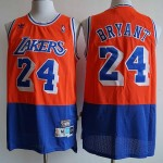 NBA Los Angeles Lakers #24 Kobe Bryant Orange Blue Hardwood Classics Mesh Jersey
