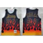 NBA Lakers #34 Shaquille O'Neal Black 1996-97 Hardwood Classics Flames Swingman Jersey