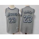 Los Angeles Lakers #23 Lebron James Metal Gray Hardwood Classics Jersey