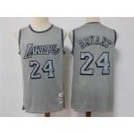 Los Angeles Lakers #24 Kobe Bryant Metal Gray Hardwood Classics Jersey