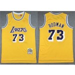 Los Angeles Lakers #73 Dennis Rodman 1998-99 Gold Hardwood Classics Jersey