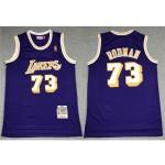 Los Angeles Lakers #73 Dennis Rodman 1998-99 Purple Hardwood Classics Jersey