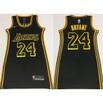 Women Los Angeles Lakers #24 Kobe Bryant Black Gold Swingman Jersey