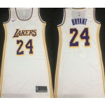 Women Los Angeles Lakers #24 Kobe Bryant White Swingman Jersey