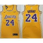 Women Los Angeles Lakers #24 Kobe Bryant Yellow Swingman Jersey