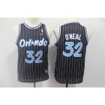 Youth Orlando Magic #32 Shaquille O'Neal Black White Stripe Basketball Jersey