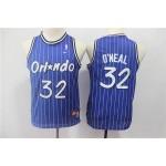 Youth Orlando Magic #32 Shaquille O'Neal Blue White Stripe Basketball Jersey