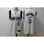 NBA Dallas Mavericks #6 Kristaps Porzingis White Nike Authentic New Jersey