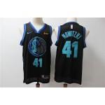 NBA Dallas Mavericks #41 Dirk Nowitzki Black City Edition Nike Swingman Jersey