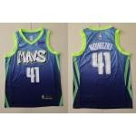 NBA Dallas Mavericks #41 Dirk Nowitzki Light Blue 2020 City Edition Nike Swingman Jersey