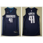 NBA Dallas Mavericks #41 Dirk Nowitzki Navy Blue Nike Authentic New Jersey
