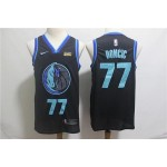 NBA Dallas Mavericks #77 Luka Doncic Black City Edition Nike Swingman Jersey