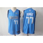 NBA Dallas Mavericks #77 Luka Doncic Blue Nike Authentic New Jersey