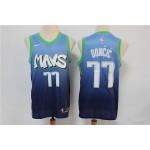 NBA Dallas Mavericks #77 Luka Doncic Light Blue 2020 City Edition Nike Swingman Jersey
