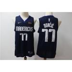 NBA Dallas Mavericks #77 Luka Doncic Navy Blue Nike Authentic Jersey