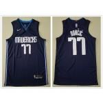 NBA Dallas Mavericks #77 Luka Doncic Navy Blue Nike Authentic New Jersey