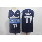 NBA Dallas Mavericks #77 Luka Doncic Navy Blue Nike Retro Jersey