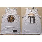 NBA Dallas Mavericks #77 Luka Doncic White Gold Nike Authentic Jersey