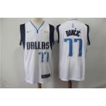 NBA Dallas Mavericks #77 Luka Doncic White Nike Authentic New Jersey